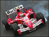 Ferrari test driver Marc Gene in testing in Spain last week