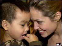 Angelina Jolie with son Maddox