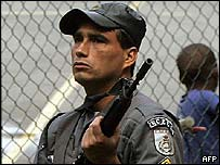 Policeman on the streets of Rio