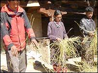 Pema Tsering (L), Kundol and Tsering Yeshi