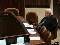 Ariel Sharon in parliament