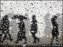 Rainy scene in Glasgow