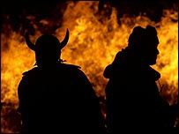 The Viking festival of Up Helly Aa is celebrated in Shetland