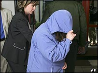Janet Arvizo (right) outside court on 18 April
