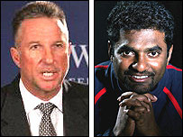 Ian Botham and Muttiah Muralitharan