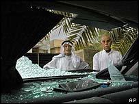 Scene of car bomb blast