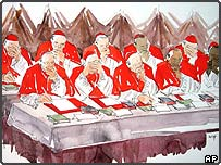 Drawing by artist Noelle Herrenschmidt of Cardinals in conclave to elect the new pope