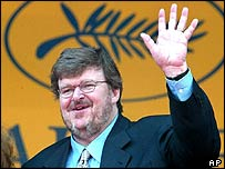 Michael Moore at Cannes 2004