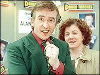 Steve Coogan and Felicity Montagu in I'm Alan Partridge