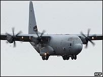 Avión militar Hércules (foto de archivo)