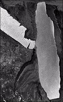 Colisión de icebergs