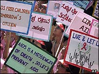 Aids campaigners in India