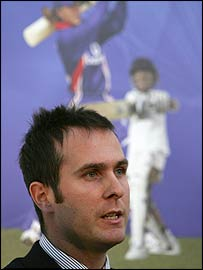 Michael Vaughan was on board to spread the good news