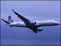Embraer 190 plane in livery of Copa Airways (Photo: Embraer)