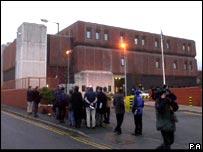 Media wait outside HMP Bristol