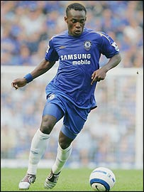 Ghanaian midfielder Michael Essien
