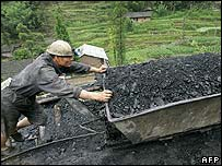 Chinese coal worker.  Image: AFP
