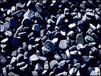 A pile of coal