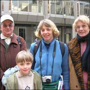 Raymond and Christiane Massat with daughter Corinne and grandson Guillaume.