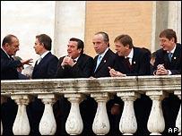 Эстонский премьер Юхан Партс (крайний справа) среди европейских лидеров