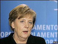 Angela Merkel at EU Parliament in Brussels