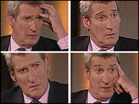 Jeremy Paxman during his interview with Charles Kennedy