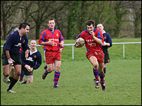 Penallta in action against Canton