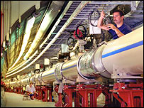 RHIC tunnel at Brookhaven (Brookhaven/RHIC)