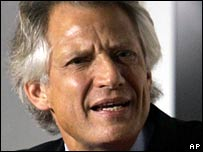 French Prime Minister Dominique de Villepin