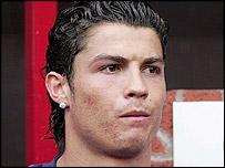 Manchester United winger Cristiano Ronaldo