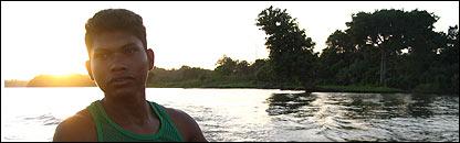 Pescador en Guatemala
