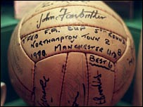 The ball from the Northampton Town game