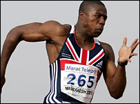 Harry Aikines-Aryeetey in action for Great Britain
