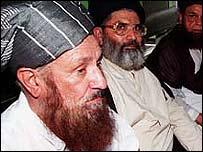Maulana Sami ul-Haq (left)