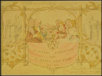 First Christmas card, courtesy of the Victoria & Albert museum, London