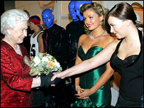 The Queen, Katherine Jenkins, Charlotte Church at the WMC for the Royal Variety Performance