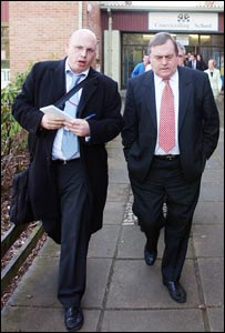 Mark Choueke and John Prescott. Pic: South Wales Argus