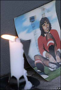 Candle tribute to George Best
