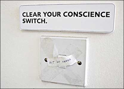 Clear your conscience switch (out of order)
