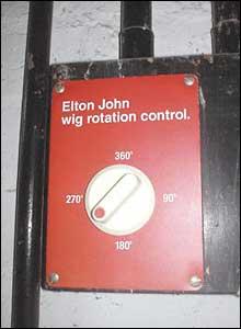 Elton John wig rotation control