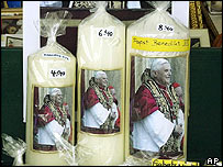 Pope candles