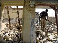 Iraqi troops search rubble of Shia temple