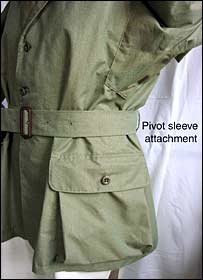 Close picture of gabardine jacket.  Image: University of Derby/Vanessa Anderson