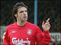 Fernando Morientes scored the opening goal for Liverpool