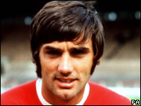 George Best in his Man Utd playing days