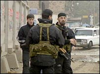 Armed men in Grozny