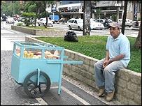 Street vendor on Avenida Paulista in Sao Paulo