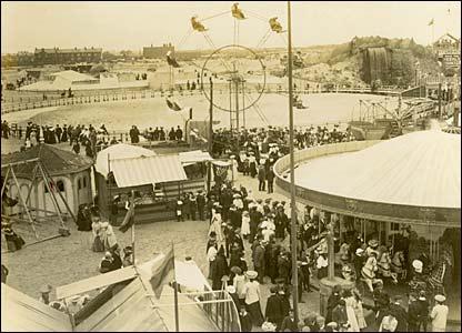 Blackpool Pleasure Beach in 1905
