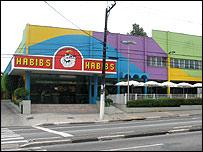 Habib's restaurant on Avenida Interlagos, Sao Paulo