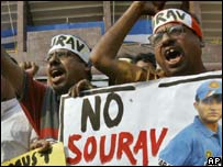 Ganguly supporters